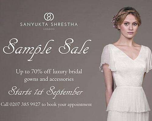 Designer bridal sample sale this September