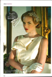 Rosalie gown in Perfect Wedding Magazine