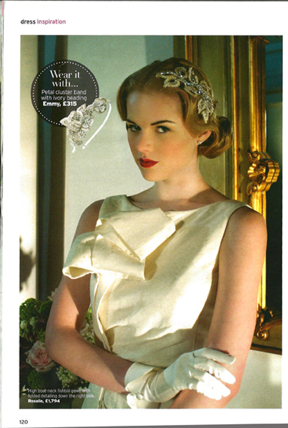 Rosalie gown in Perfect Wedding Magazine