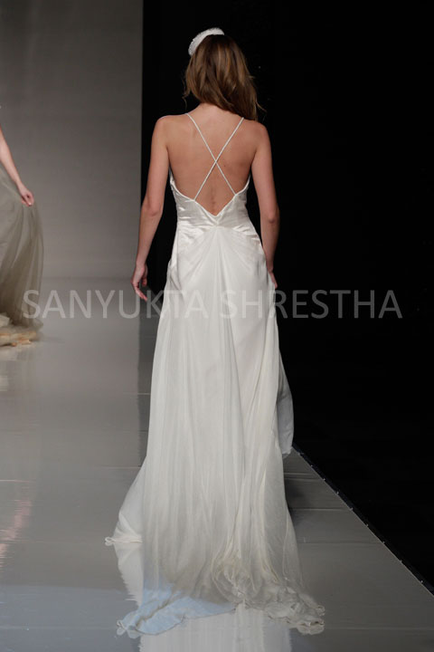 The Milca gown back