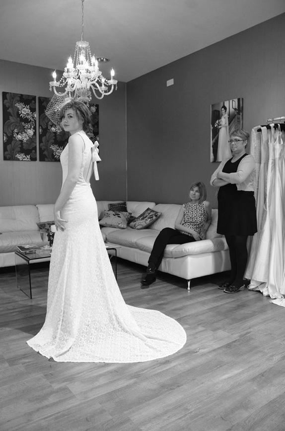 Hannah in SS 2014 wedding dress