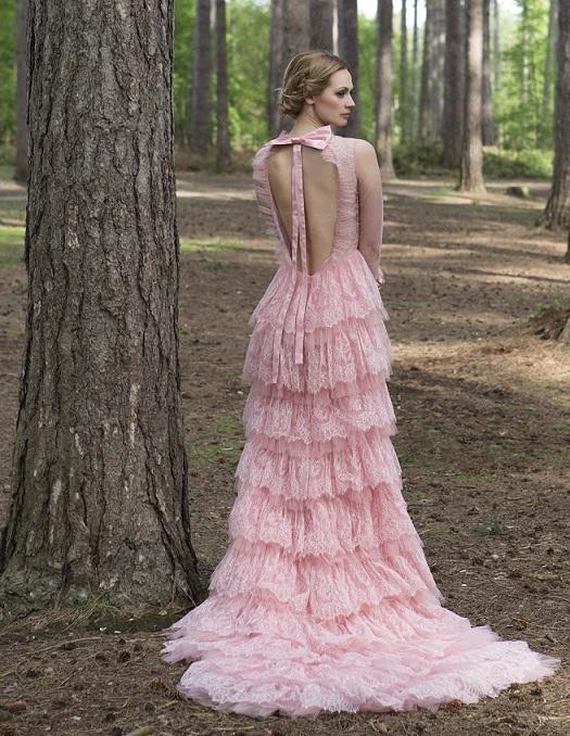 Eartha-wedding-gown-sanyukta-shrestha-lace-pink-breast-cancer