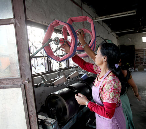 Hand Spinning Tulsi Mehar