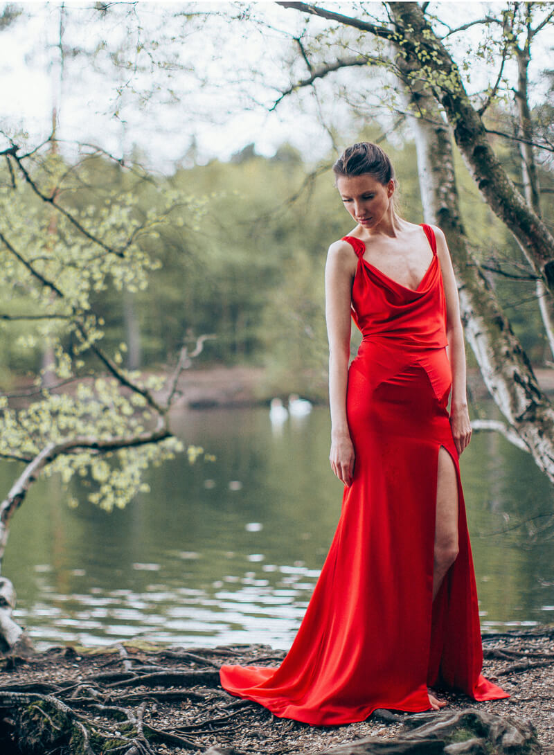 Lapageria evening gown
