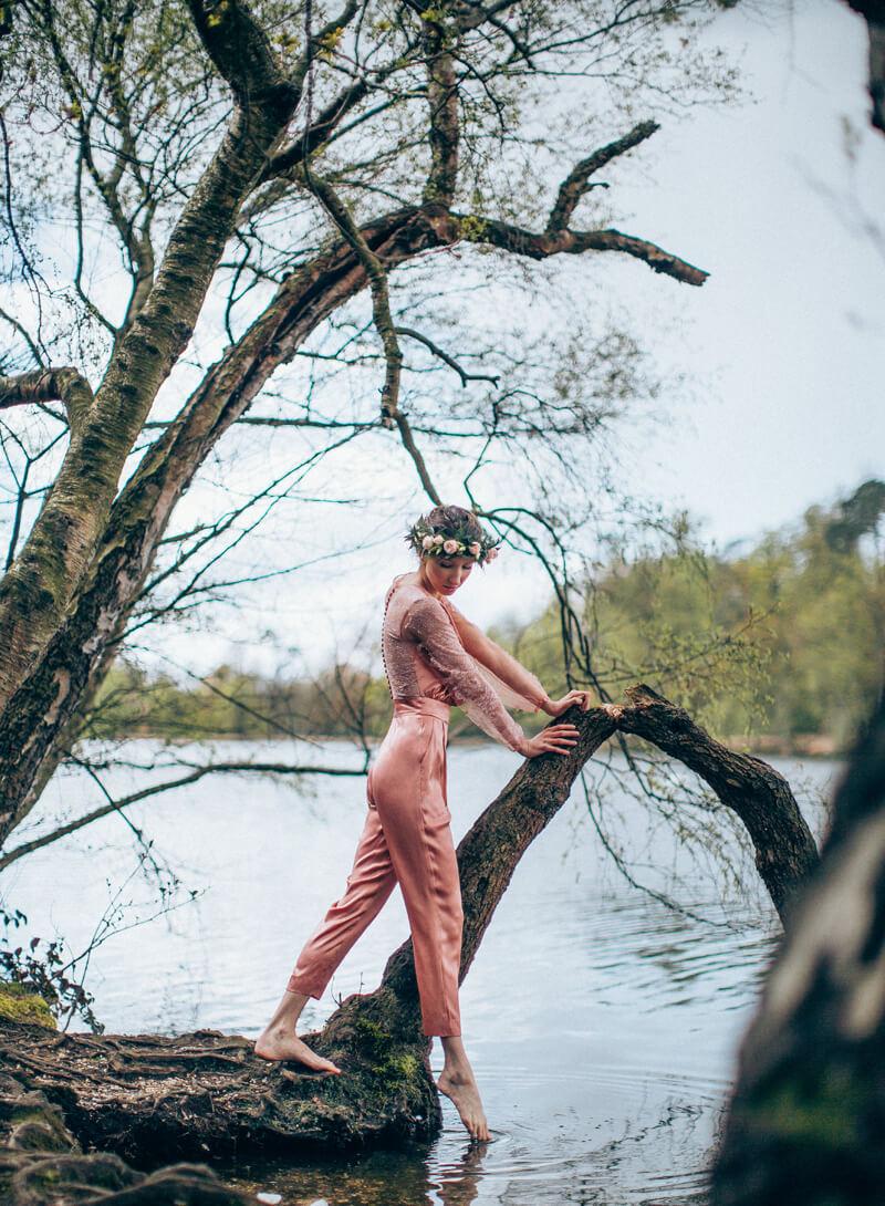 Middlemist pink jumpsuit