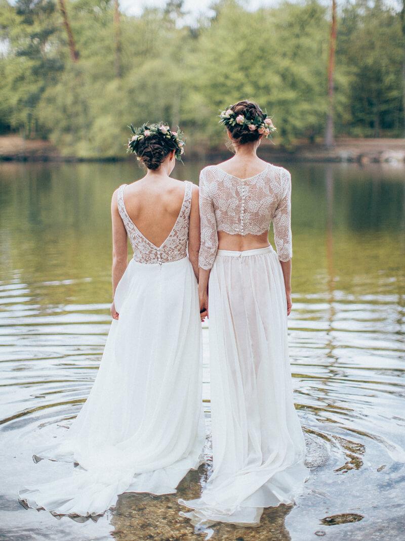Tulip & Kadupul Wedding Dress back