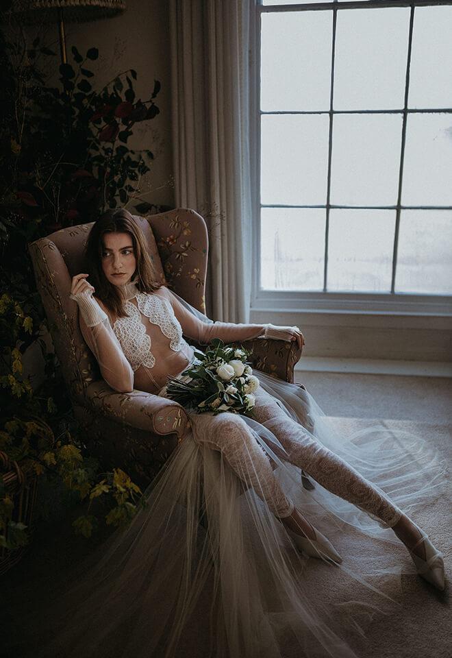 Saffron wedding dress