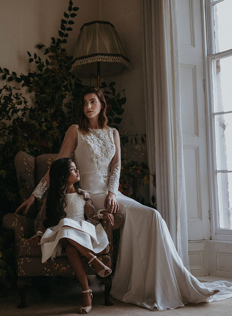 Persephone and Rhea bridal dress
