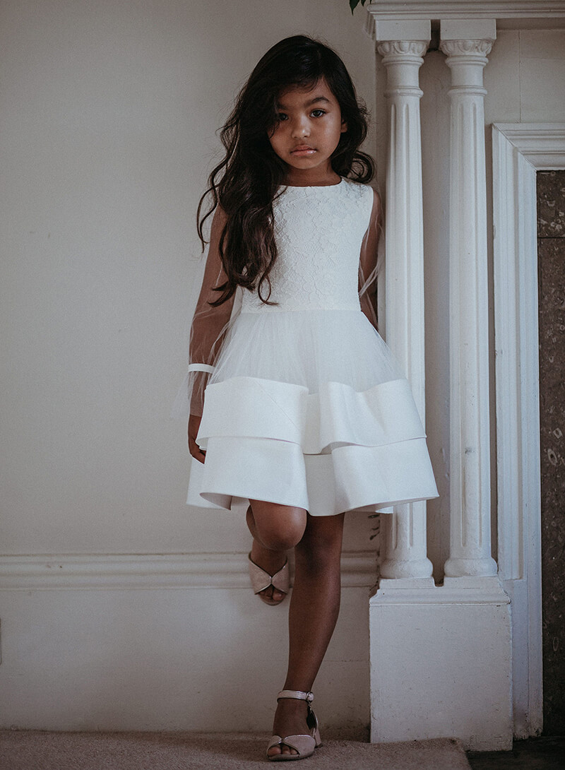 Persephone flower girl dress