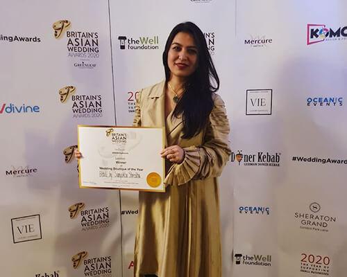 Sanyukta Shrestha Wins – 'Wedding Boutique of The Year 2020' in London