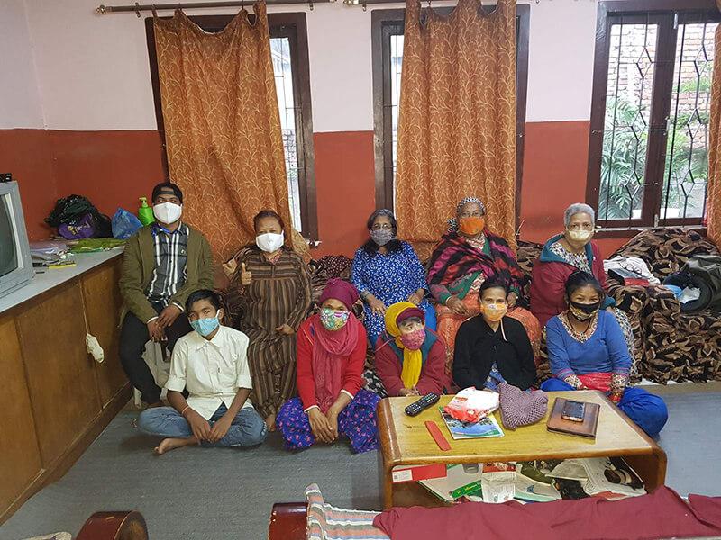 Covid 19 mask project Nepal by aama ko ghar