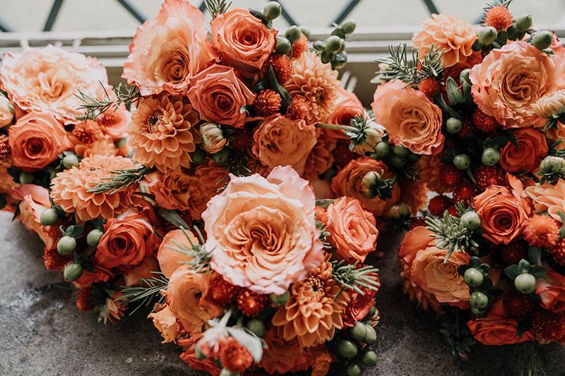 Orange-wedding-bouquet