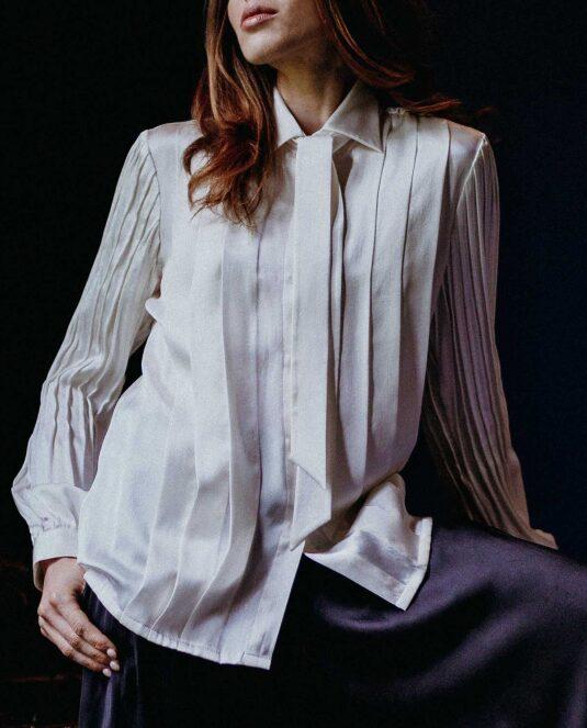 Devna Silk Blouse Shirt