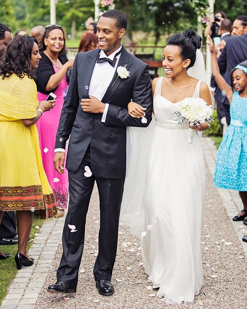 Sanyukta Shrestha Elegant black wedding