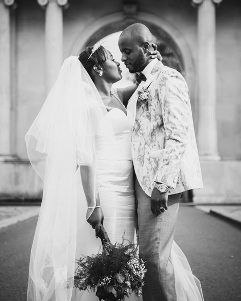Sanyukta Shrestha black bride black groom 1