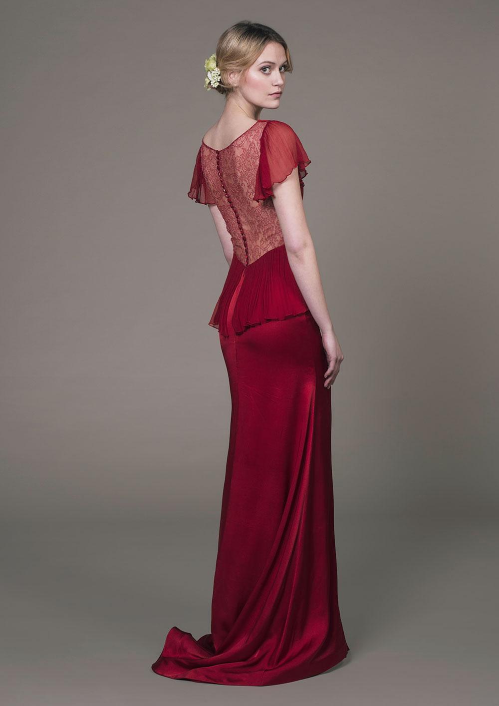 Aurelia Scarlet Silk gown
