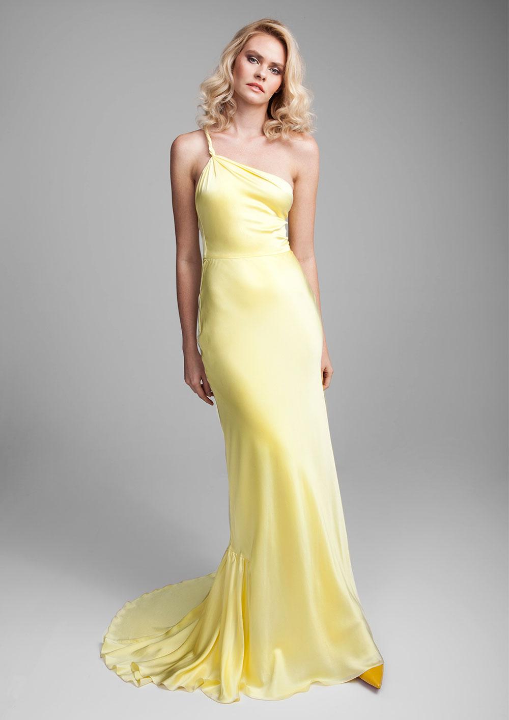 Delphinium Silk gown