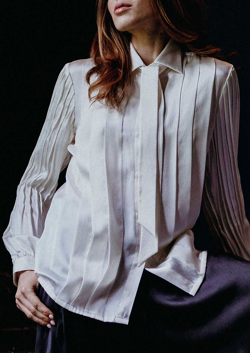 Devna sustainable silk luxe blouse smart top