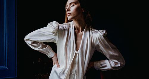 Dexa rtw sanyukta shrestha organic silk Blouse top 1