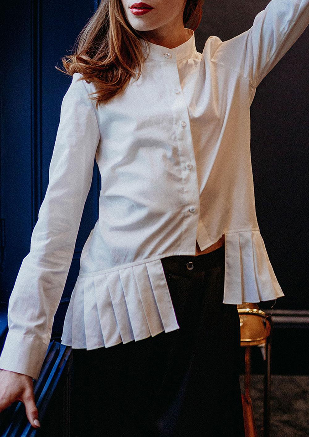 Ita sustainable organic cotton blouse top