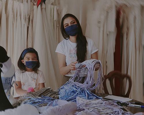 Sanyukta Shrestha for Crisis UK   Making eco-friendly Face Masks to keep the Homeless Safe