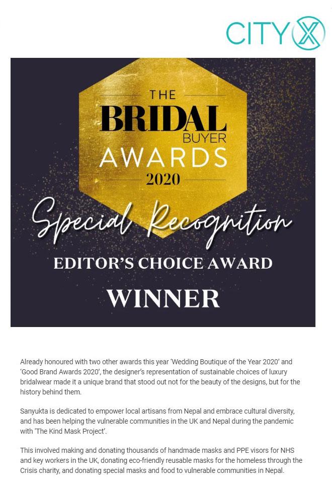 Bridal Buyer Award