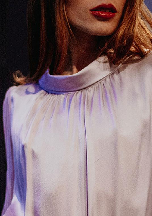 Ava Lavender Silk Top